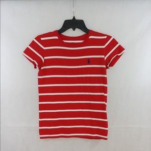 SOLD ‼️‼️‼️ Polo Red & White Striped T-Shirt Sz S